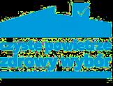 Logo czyste powietrze - niebieski kontur domu
