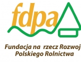 pomarańczowe litery fdpa. Poniżej napis Fundacja na rzecz Rozwoju Polskiego Rolnictwa
