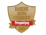 """Logo """"Perspektyw"""" z napisem Ranking liceów i techników Perspektywy 2021"""