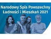 Baner: uśmiechnięta grupa osób w różnym wieku. Na niebieskim tle biały napis: Narodowy Spis Powszechny Ludności i Mieszkań 2021.