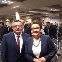 Wójt z Panią Minister Anną Zalewską